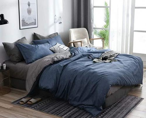 Grey White Buffalo Check Duvet Cover Set Queen Size Reversible Plaid Bedding Set Modern Simple Style Duvet Cover Soft Microfiber Quilt Cover with Zipper Closure Queen
