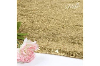 (10, Trlyc Warm Gold) - TRLYC Pack of Ten Wedding 30cm by 270cm Gold Sequin Tablerunner for Christmas