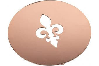 (round_Fleur De Lis, Copper) - Creative Home 20cm Metal Round Fleur De Lis Motif Trivet with Copper Finish