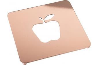(square_apple, Copper) - Creative Home 19cm Copper Plated Metal Square Trivet with Apple Motif, 18cm - 1.3cm x 18cm - 1.3cm x 1.6cm H