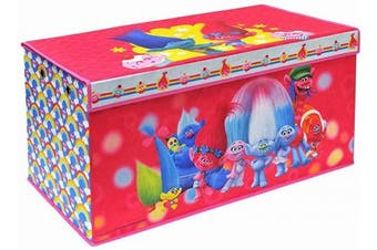 (Trolls Soft Storage) - Trolls Folding Soft Storage Bench, Perfect Toy Box or Chest for Playrooms, Officially Licenced Product
