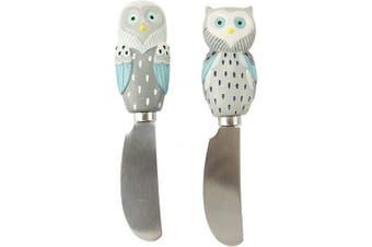 Boston Warehouse Artsy Grey Owl Stainless Steel Spreader (Set of 2)