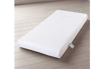 (120 x 60 x 13 - Cover Only) - MHG Living™ Eco Breathable Baby Cot Bed Mattress Quilted Waterproof Cover Extra Thick & Comfy 120 x 60 x 13 & 140 x 70 x 13 - (Fits Mothercare and Mamas & Papas Sizes) (120 x 60 x 13 - Cover Only)