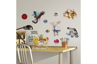 (Pokemon XY) - RoomMates Pokemon XY Peel And Stick Wall Decals - RMK2625SCS, Multi