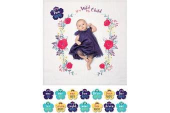 (Rainbow) - Lulujo Milestone Blanket and Card Set