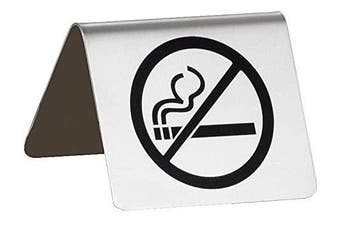 """TableCraft Products B8""""No Smoking"""" Sign, Stainless Steel Buffet Tent"""