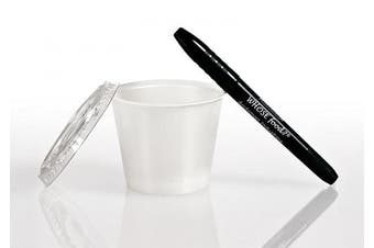 (60ml Cup) - Solo 60ml Portion Container & Lid (250ct) – Restaurant/Take-Out Style Clear Plastic Side Dish Cups - Bundled with WhoseFood. Pen – for Ketchup, Sauces, Samples, Portion Control, Jello Shots