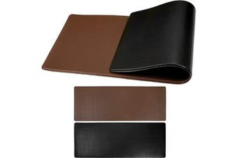 (120cm  x 44cm , Black/Brown) - OPUX Anti Fatigue Comfort Floor Mat | Standing Mat for Kitchen Home Office Desk | Reversible Decorative Ergonomically Engineered Rug | Non-Slip Waterproof Easy Clean | Black/Brown, 120cm x 44cm