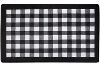 (Black) - Achim Home Furnishings ANFTMBBK12 Buffalo Cheque Anti Fatigue Mat, 46cm x 80cm , Black