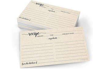 (X-Small (3x5), From Kitchen - Ing Front, Dir Back) - 321Done Small Rustic Recipe Cards (Set of 50) From the Kitchen Of 7.6cm x 13cm Kraft Tan Minimalist for Wedding, Bridal Shower Double-Sided - Made in USA