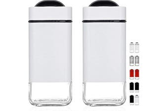 (White) - CHEFVANTAGE Salt and Pepper Shakers Set with Adjustable Pour Holes - White