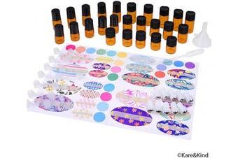 (Mini Essential Oil Bottles) - Kare & Kind Refillable Essential Oil Bottle Kit (Mini Essential Oil Bottles)
