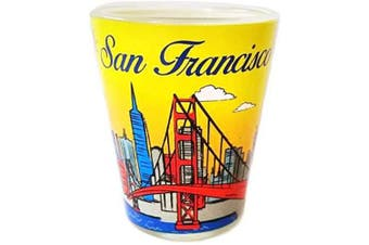(San Francisco) - San Francisco Yellow Fun in the Sun Designed Souvenir Shot Glass