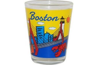 (Multicolor) - American Cities and States of Cool Shot Glass's (Boston MA)