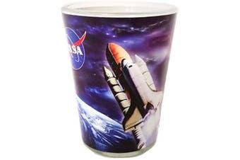 (Nasa Blue) - NASA Outer Space Space Ship Designed Unique Shot Glass