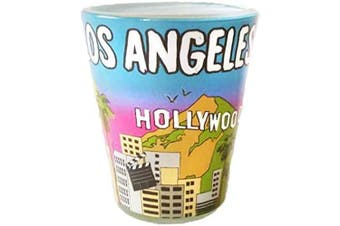 (Los Angeles) - Los Angeles California Designer Shot Glass of the beautiful valley and California Landscape