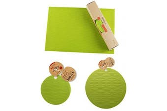 (1pc Dining Bowl Cup Mat-green) - liflicon Silicone Place Mat for Dining Bowl Cup Table Reusable Kids Place Mat Hot Pads Pot Holders Spoon Rest Baking Mat Pet Food Mat Non-Slip Trivet Mats (1pc Dining Bowl Cup Mat)-Green