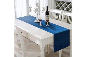 (41cm  X 180cm ) - AAYU Denim Table Runner 41cm X 180cm | Stone Washed Premium Quality (41cm X 180cm )