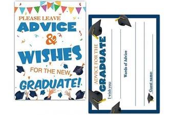 Graduation Advice Cards for Graduate - Graduation Party Decoration, Graduation Party Games - 30 Cards