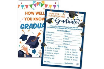 How Well Do You Know The Graduate – Graduation Party Games – 30 Cards