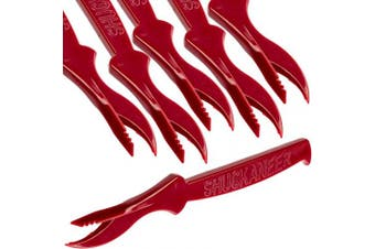 (6) - Ultra Durable, Super Easy Seafood Sheller 6Pk. Serrated Knife Perfect for Cracking Lobster, Crab, Crawfish or Deveining Shrimp. BPA Free, Portable Utensils for Feasts, Boils and Themed Restaurants.