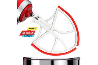 (Red) - Flex Edge Beater for KitchenAid Bowl-Lift Stand Mixer Attachment 5.7l - Coated Flat Beater Blade with Silicone Edges - Useful Mixer Accessory(Red)