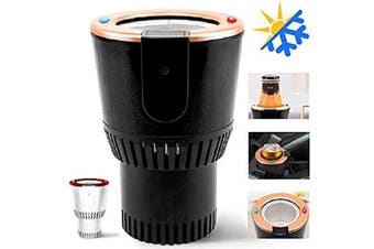 Olymbros Car Cup Warmer Cooler Premium 2-in-1 Portable Smart Auto Car Cup Drinks Holder for Water Coffee Beverage Milk with Display Temperature Heater Cooler Fits in Traveller Road Tripper Outdoors
