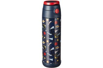(500ml, Space Wars) - Snug Flask for Kids - Vacuum Insulated Water Bottle with Straw (Space Wars, 500ml)