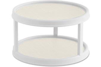 (Cream) - Copco Non-Skid 2 Tier Turntable, 30cm , Cream