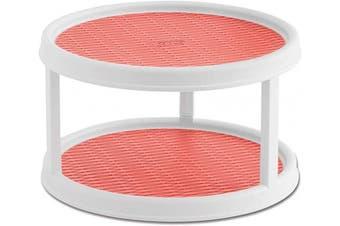 (Coral) - Copco Non-Skid 2 Tier Turntable, 30cm , Coral
