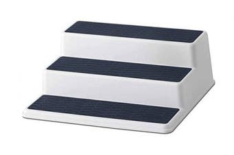 (25cm , Steel Blue) - Copco Basics Non-Skid 3 Tier Cabinet Organiser, 25cm , Steel Blue