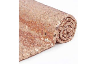 (4 Yards, Rose Gold) - B-COOL Sequin Fabric Rose Gold Sequin Backdrop Fabric 4 Yards 3.7m Fabrics Lot Sequined Fabric for Wedding Party Events Backdrop