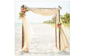 (15 pieces, Ivory) - B-COOL Soft Chiffon Table Runner Ivory 70cm x 300cm 15 Pieces Table Runner Romantic for Party Wedding Reception Table Decor