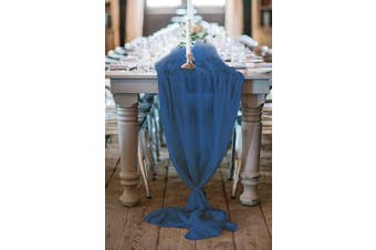 (10 pieces, Navy Blue) - 10 Piece Wedding Table Runner 70cm x 300cm Elegant Table Runners Gorgeous Romantic Decoration