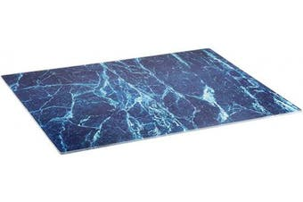 (Marble) - Glass Cutting Board by Clever Chef | Non Slip Cutting Board is Shatter-Resistant, Durable, Stain Resistant, Dishwasher Safe | 30cm x 40cm (Marble)