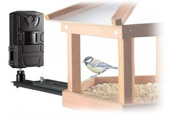 Bresser Bird Small Animal Camera SFC-1 Surveillance Camera for Home Birds or Other Small Animals with Motion Sensor for Photos and Videos in Full HD Quality