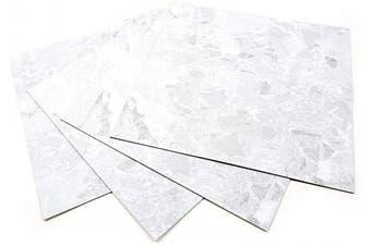 (ECK-304 : Square 4 Tiles) - ROSEROSA Peel and Stick Engineered PVC Tiles Marble Granite Pattern Durable Vinyl Flooring (ECK-304 : Square 4 Tiles)