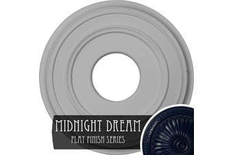 (Hand-Painted Midnight Dream) - Ekena Millwork CM12CLMDF Classic Ceiling Medallion, 31cm OD x 10cm ID x 2.9cm P (Fits Canopies up to 18cm ), Hand-Painted Midnight Dream