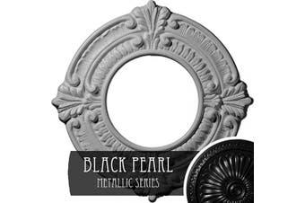 (Hand-Painted Black Pearl) - Ekena Millwork CM09BNBPS Benson Ceiling Medallion, 23cm OD x 10cm ID x 1.6cm P (Fits Canopies up to 10cm ), Hand-Painted Black Pearl