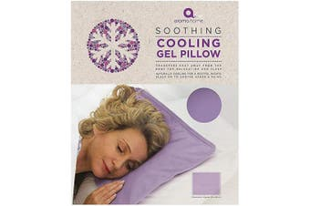Aroma Home Cooling Gel Pillow, Therapeutic Support Pillow Insert with Lavender