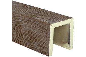 "(12"" Beam Sample, Natural Honey Dew) - Ekena Millwork BMSDHD Sandblasted Endurathane Faux Wood Ceiling Beam Sample, 15cm W x 15cm H x 30cm L 3-Sided (U, Natural Honey Dew"