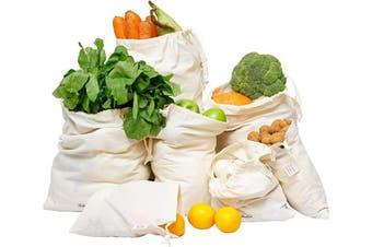 (5, Muslin - Set of 7 (1 of XXL, L, M, S, XS & 2 of X) - Organic Cotton Produce Bags - Muslin Produce Bags - Cloth Bags for Bulk Food - Reusable Bulk Bin Bags - Cotton Produce Bags - Organic Cotton Vegetable Bags, Set of 7 (1 of XXL, L, M, S, XS & 2 of XL