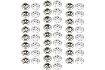 (35mm) - 50Pcs Air Vents 35mm Circular Soffit Vent Stainless Steel Round Vent Mesh Hole Louvre for Kitchen Bathroom Cabinet Wardrobe
