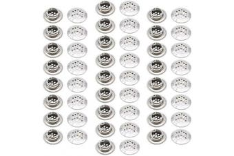 (19mm) - 50Pcs Air Vents 19mm Circular Soffit Vent Stainless Steel Round Vent Mesh Hole Louvre for Kitchen Bathroom Cabinet Wardrobe