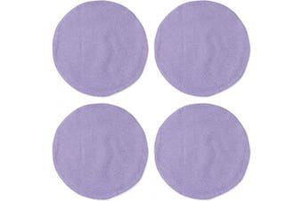 (Round Placemats 38cm , Lilac) - NATUS WEAVER Round Placemat – Lilac, Set of 4, 38cm Soft Linen eco-Friendly Fabric Handcrafted Machine Washable Indoor & Outdoor Tablemat