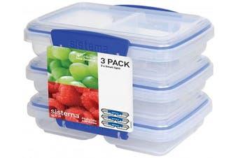(Set of 3, Small (1.3 Cup)) - Sistema Klip It Multi-Use Food Storage Container Set, Set of 3