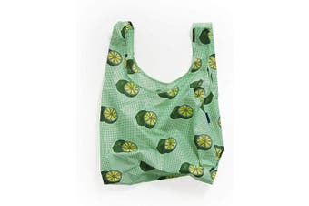 (Green Lime) - BAGGU Standard Reusable Shopping Bag, Ripstop Nylon Grocery Tote or Lunch Bag, Green Lime