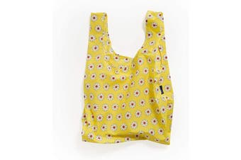 (Yellow Daisy) - BAGGU Standard Reusable Shopping Bag, Ripstop Nylon Grocery Tote or Lunch Bag, Yellow Daisy