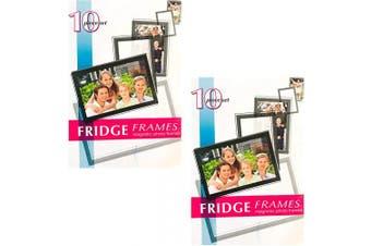 (20 Frames) - Black Duck Brand 10-Piece Magnetic Fridge Photo Picture Frames (20 Frames)