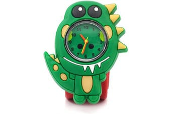 Wacky Watch Dinosaur TRex Animal Design Slapwatch Fast Fit Kids Childrens Silicone Watch Band Learn to Tell the Time Unisex Instant Fit Any Size